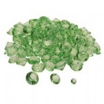 Lime Green Assorted Sized Diamond Table Crystals